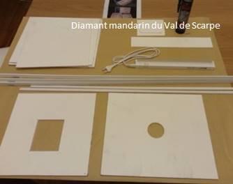 Materiel pour cage photo pvc a