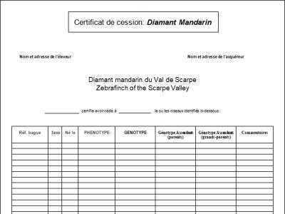Entete article certificat de cession diamant mandarin